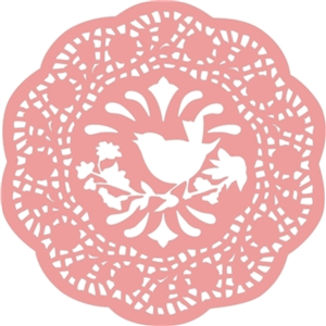 vintage bird branch doily