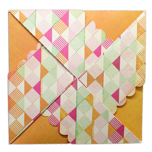 scallop pinwheel card wrap