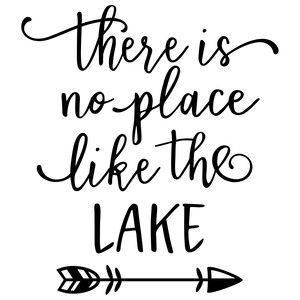 there's no place like lake phrase