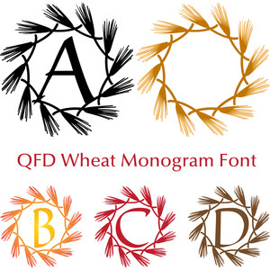 qfd wheat monogram font