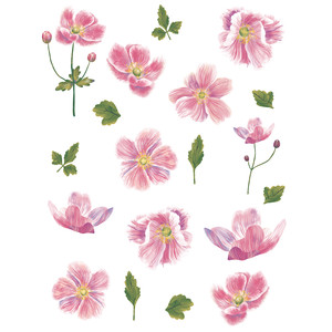 japanese anemone flower stickers