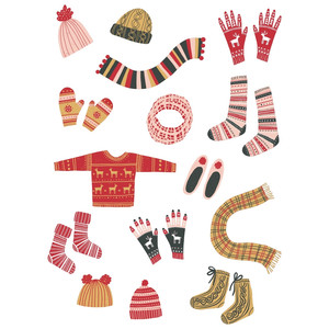 cosy winter knits stickers