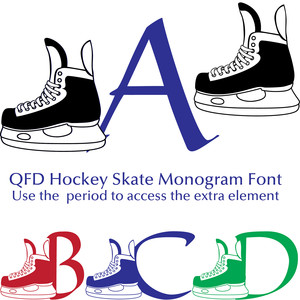 qfd hockey skate monogram font