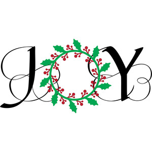 flourished joy wreath
