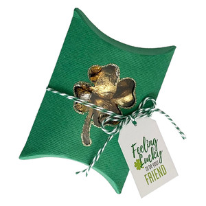 four leaf clover pillow box