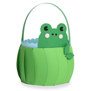 cute frog basket