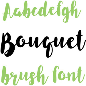 bouquet brush font