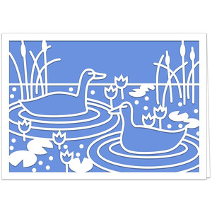 duck pond card