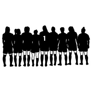 girls soccer team silhouette