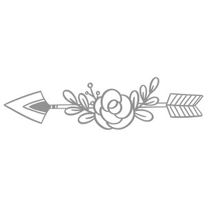 boho flower arrow
