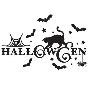 halloween decorative word