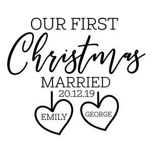 our first christmas married