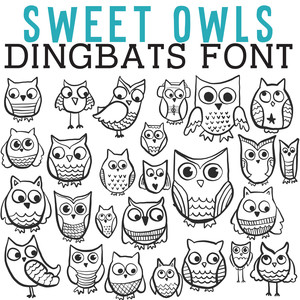 cg sweet owls dingbats