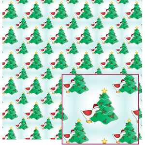 christmas goose and tree pattern