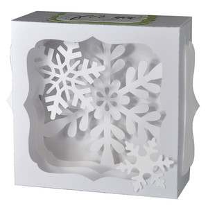 snow time gift card box
