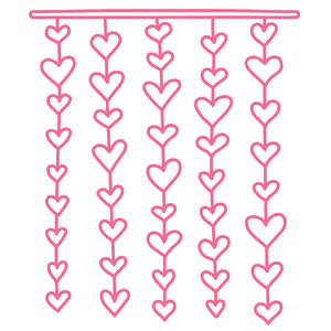heart lines border