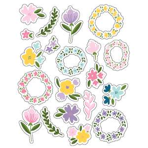 ml flowery wreaths stickers