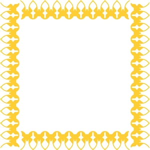 butterfly border/frame (12x12)