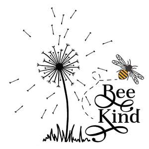 bee kind dandelion quote