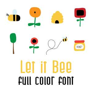 let it bee full color font