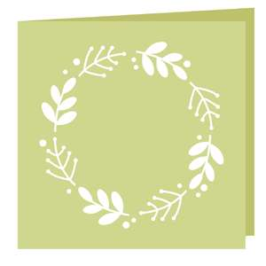 square floral card
