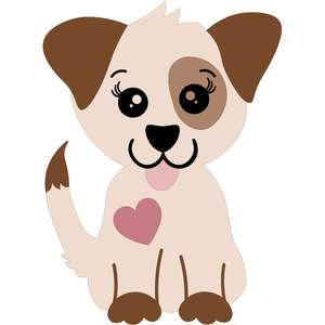 cute dog with heart