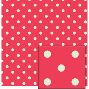 pink and cream larger polka dot pattern