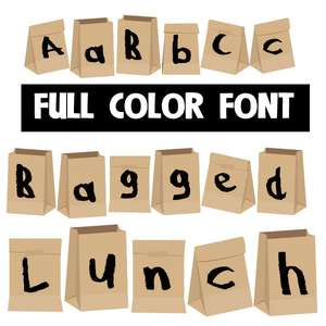 bagged lunch color font