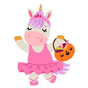 halloween unicorn ballerina