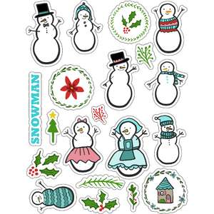ml snow people stickers