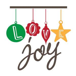 love joy christmas balls