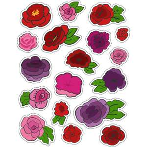 ml roses and flower stickers