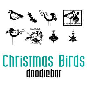 christmas birds doodlebat