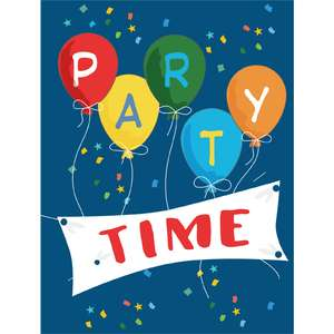 party time flat card