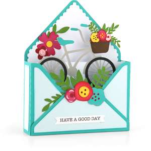 box card envelope bicycle