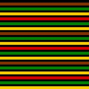 black history month colors lines