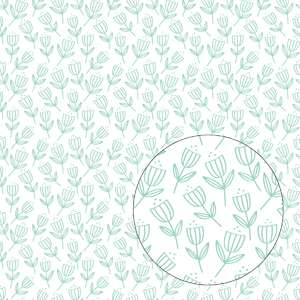 whimsical tulips flowers seamless pattern