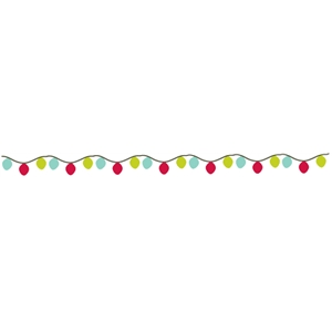 christmas lights banner / border strip