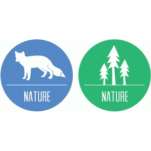 trees and fox nature badges