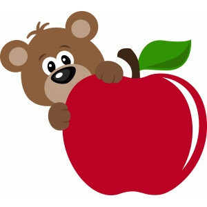 ppbn designs bear with apple