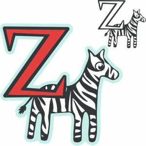 'z' is for zebra