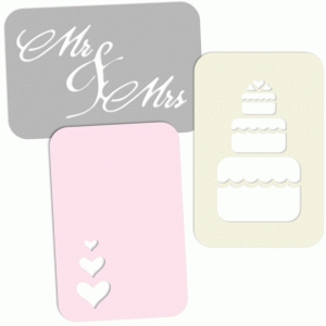 4x6 wedding journaling card set