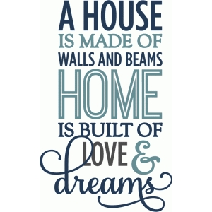 home is built on love & dreams - phrase