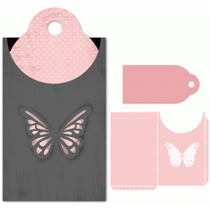 butterfly tag with sleeve