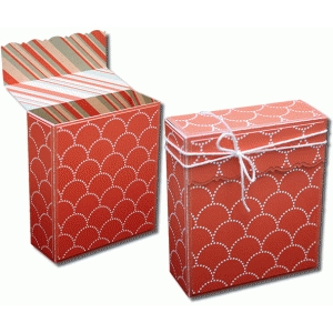 3d flap over decorative scallop gift box