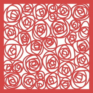 roses papercut lace 12x12 page