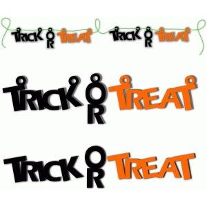 halloween trick or treat bunting