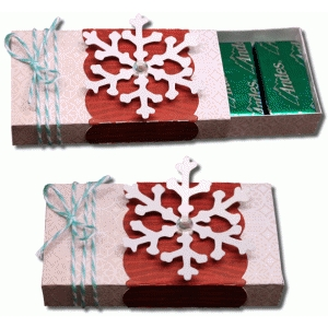 3d snowflake 8 count sliding candy box