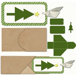 slide out tree tag and envelope