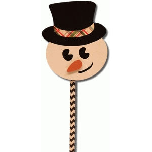 snowman pencil-straw topper